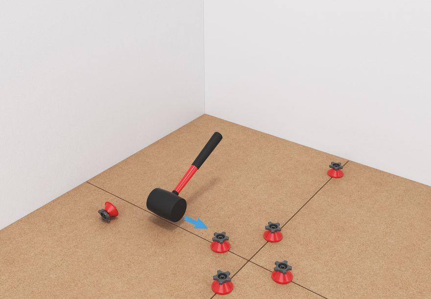 Укладка плитки с применением системы LITOLEVEL - 3
